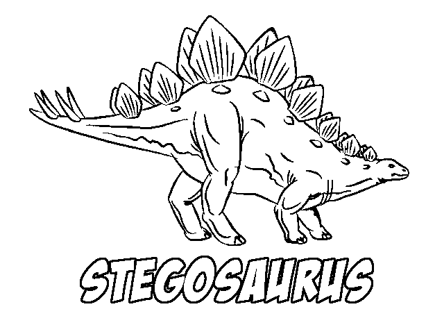 Stegosaurus Coloring Page Coloring Page Book For Kids
