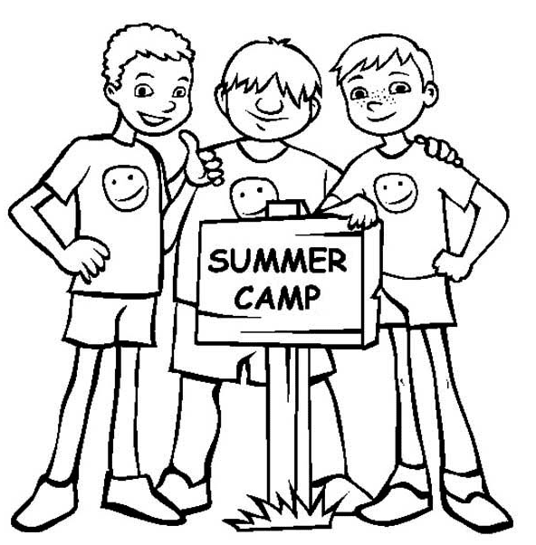 Summer Camp Coloring Page coloring page & book for kids.