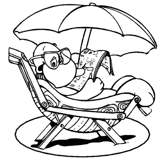 Summer Fun Coloring Page Coloring Page Book For Kids