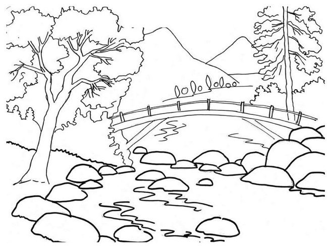 Summer Park Coloring Page Coloring Page Book For Kids