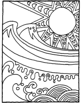 Summer Time Sand Toys Coloring Page