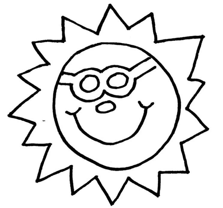 Sun Coloring Page & Coloring Book