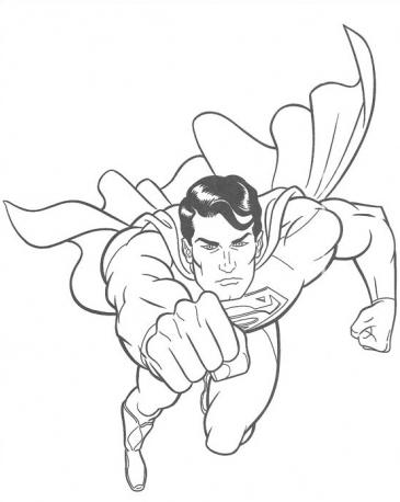 Superman 2 Hero Coloring Page coloring