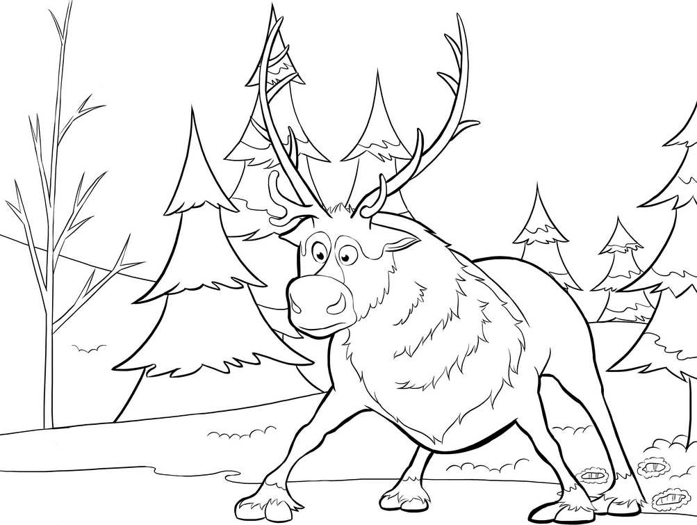 Sven Reindeer & Coloring Book