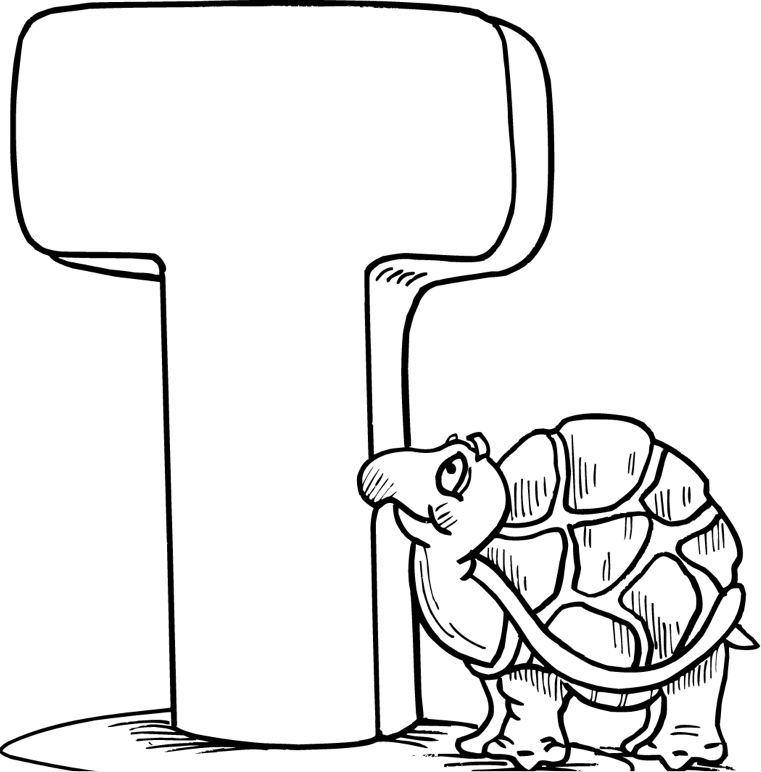 t coloring pages T Coloring Page coloring page & book for kids. t coloring pages