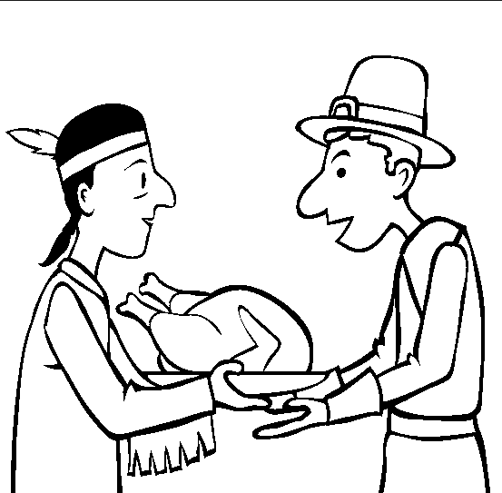 Thanksgiving Pilgrim Coloring Page Book For Kids