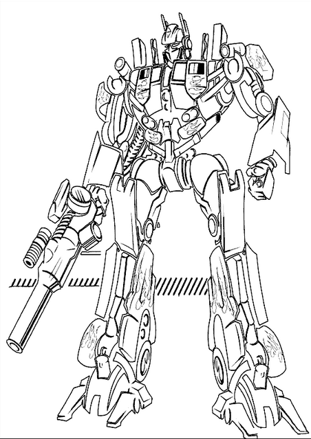 Transformers 12 Coloring Page