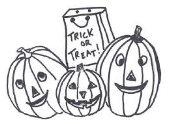 Trick Or Treat Coloring Page Coloring Page Book For Kids