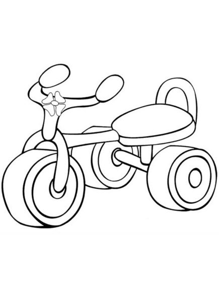 Tricycle Coloring Page coloring