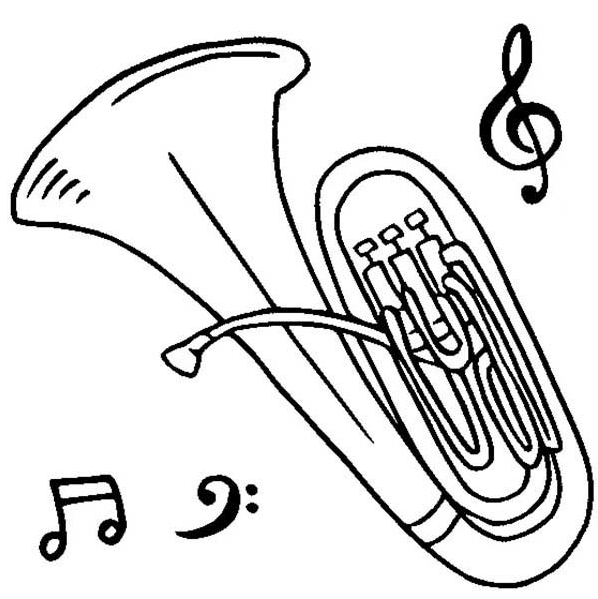 Tuba Coloring Page Coloring Page Amp Book For Kids