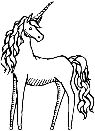 Unicorn Horse Coloring Page coloring page book for kids