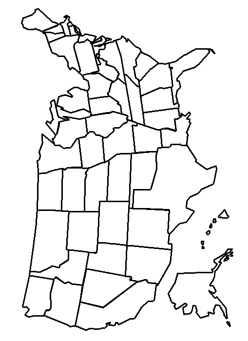 United States Map Coloring Page coloring page & book for kids.