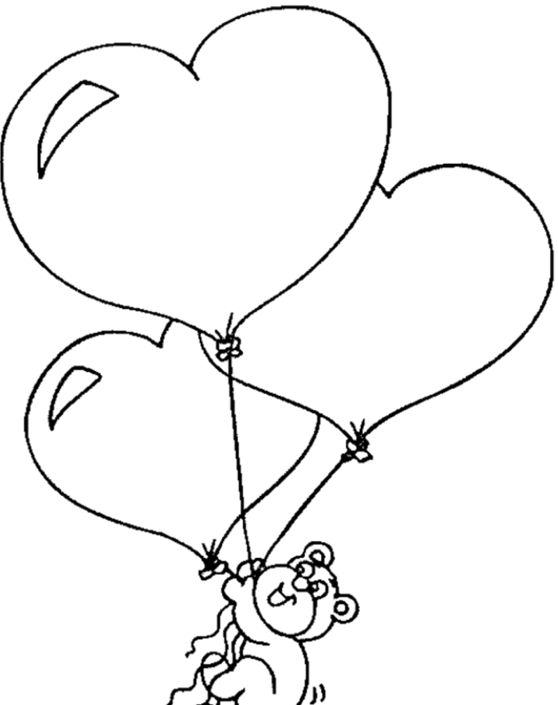 Happy Valentine\'s Day coloring page & book for kids.