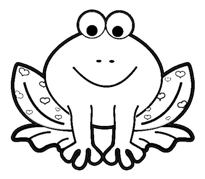 Valentines Day Frog Coloring Page Book