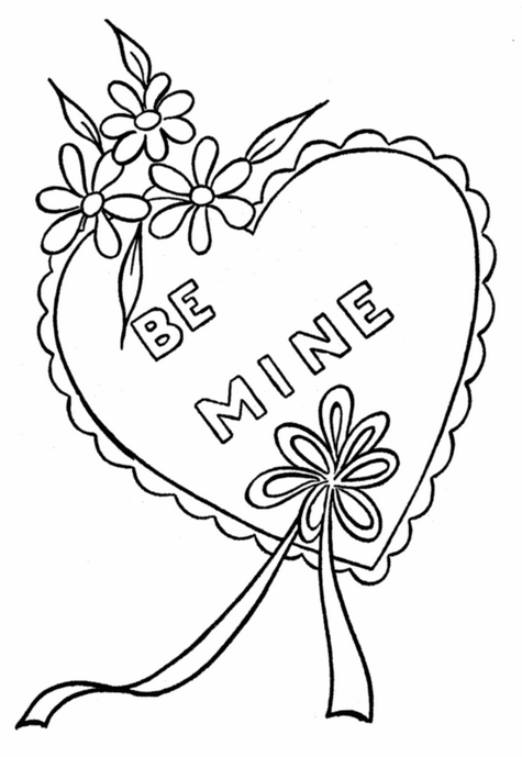 Valentines Day Heart Coloring Page coloring page & book for ...