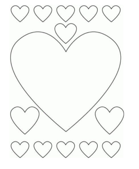 Valentine S Day Hearts Coloring Page Coloring Page Book For Kids
