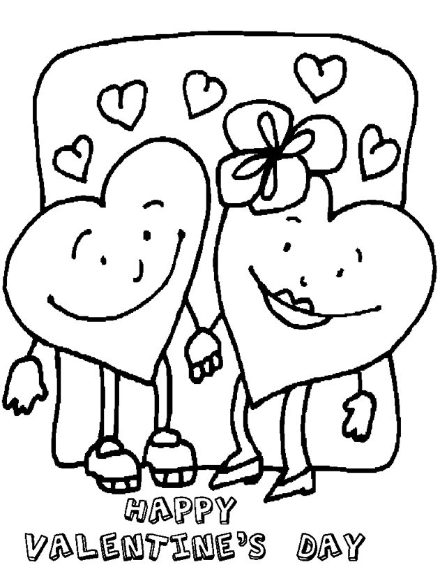 Happy Valentine\'s Day Coloring Page & Coloring Book