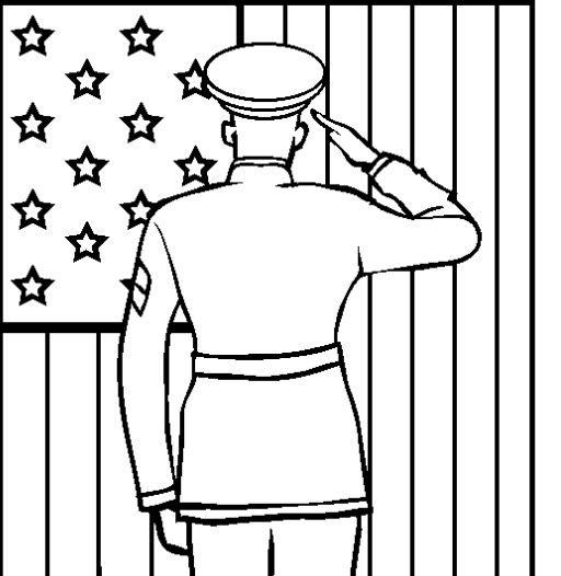 Veterans Day Coloring Page Coloring Page & Book For Kids.