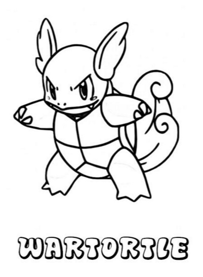 Wartortle Pokemon Coloring Page & Coloring Book